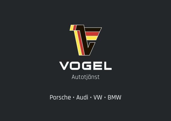Visitkort, Vogel Autotjänst, framtaget av Primaform Produktion AB, Södermalm, Stockholm